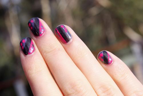 Taping Dotting Nail Art Featuring Rimmel London Max Factor