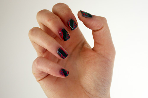 Max Factor Deep Grey Rimmel London Royal Blue Covergirl Tickled Pink nail art
