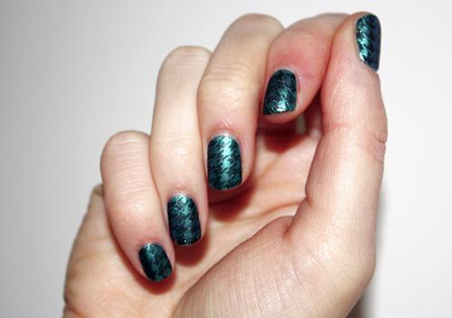 Nail art stamping matte glitter