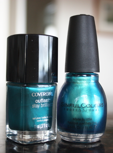 Sinful Colors Gorgeous Covergirl Constant Caribbean comparison