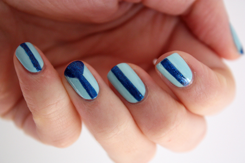 Ulta3 Soft Hydrangea Pretty Serious BSOD nail art