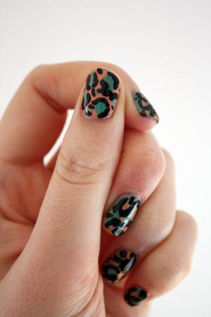 Leopard print nail art fail