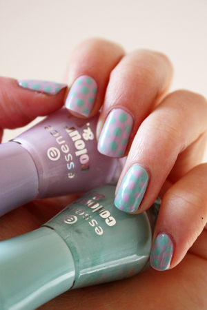 Polka dot nail art using essence hello marshmallow essence essence dotting nail art prinsesfo Images
