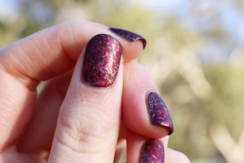 Sportsgirl Nail It! Volcanic Sparks nail art