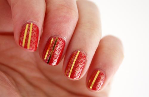 Ulta3 Fruit Punch nail art
