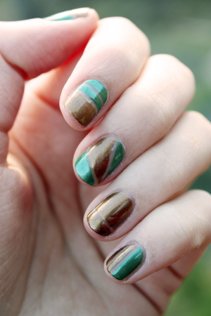 Ulta3 Jade Antique Gold Tape Nail Art Dry Dammit