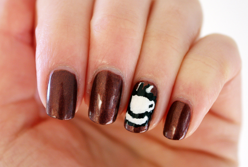 Coffee nail art The Cuteberry Nail Challenge