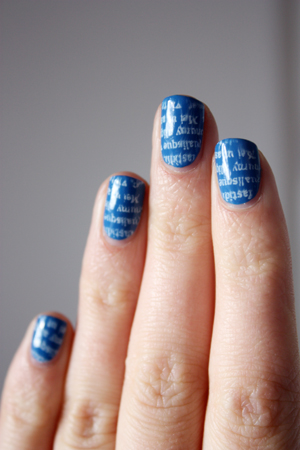 Max Factor Candy Blue nail art