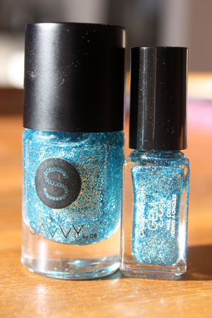 Sally Hansen & Savvy by DB comparison