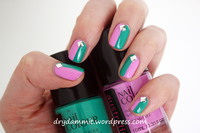 Australis Indie & Australis K-Pop colour block nail art from the ...