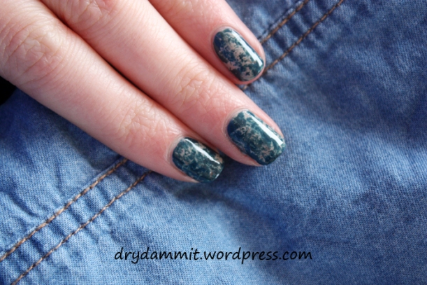 Denim nails by Dry. Dammit!