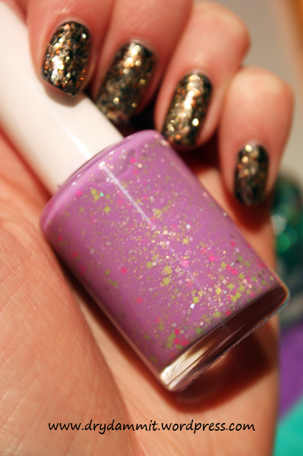 July What's In-die Box Glam Polish Little Miss Naughty by Dry, Dammit!