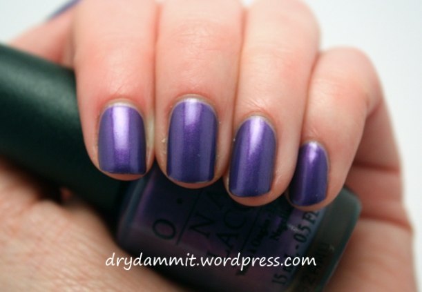 OPI Purple With A Purpose by Dry, Dammit!