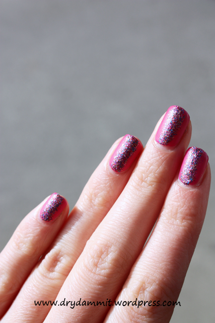 Sinful Colors Boom Boom Amp Sally Hansen Rockstar Pink Nail Art Dry Dammit