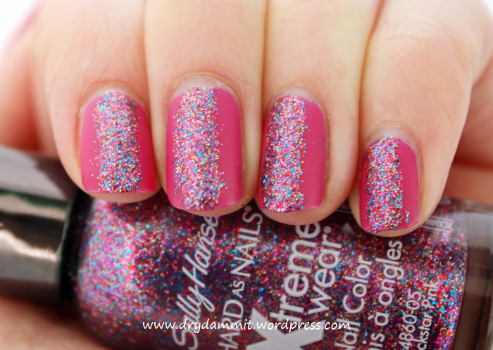 Sinful Colors Boom Boom with Sally Hansen Rockstar Pink by Dry, Dammit!