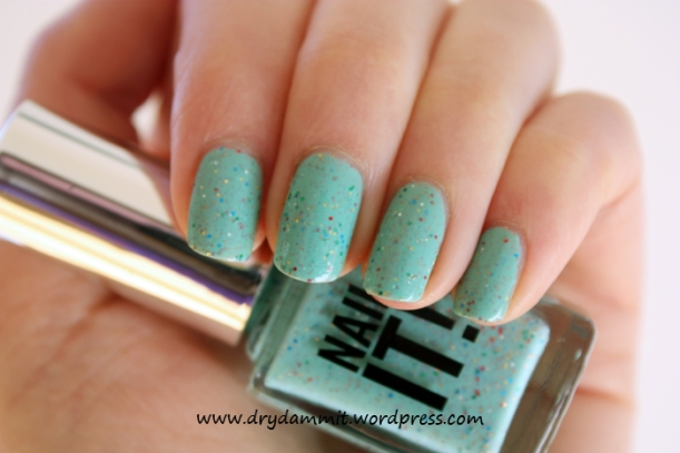 Sportsgirl Nail It! Speckled Mint by Dry, Dammit!