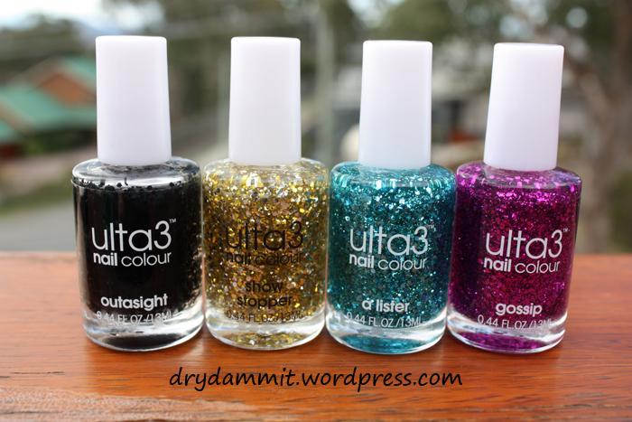 Ulta3 Glitterati haul by Dry, Dammit!
