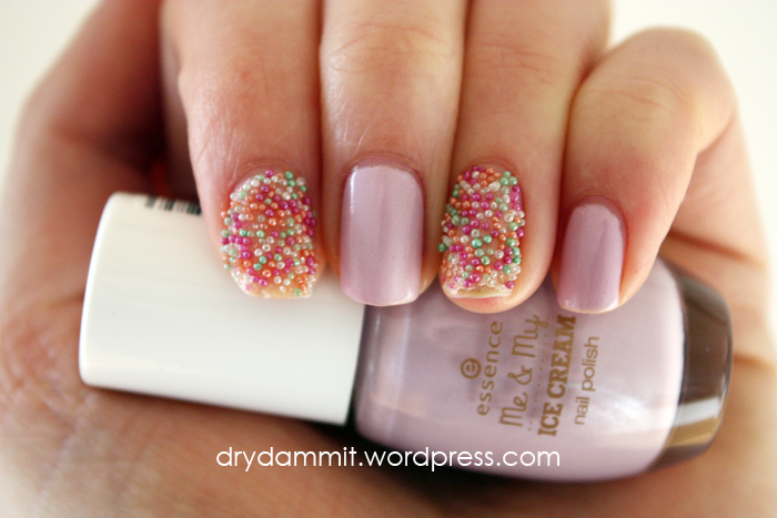 Essence Ice, Ice Baby & nail topping sticker from Me & My Ice Cream Collection by Dry, Dammit!
