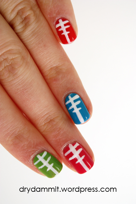 Sgt Pepper's Lonely Hearts Club Band inspired nail art by Dry, Dammit!