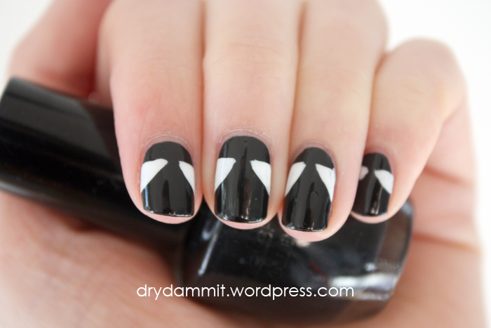 Little black dress nail art by Dry, Dammit!