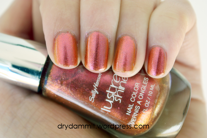 Sally Hansen Lava from the Lustre Shine Collection & stamping nail ...