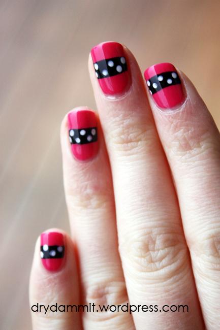 Sarah Jessica Parker / Carrie Bradshaw nail art by Dry, Dammit!