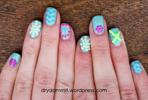 3D stud nail art by Dry, Dammit!