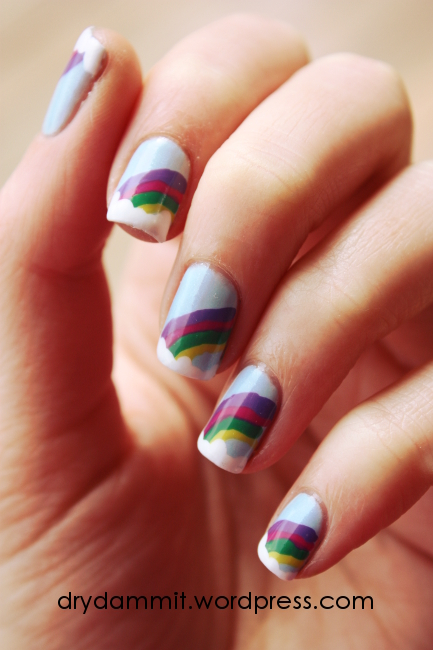 Rainbow nail art by Dry, Dammit!