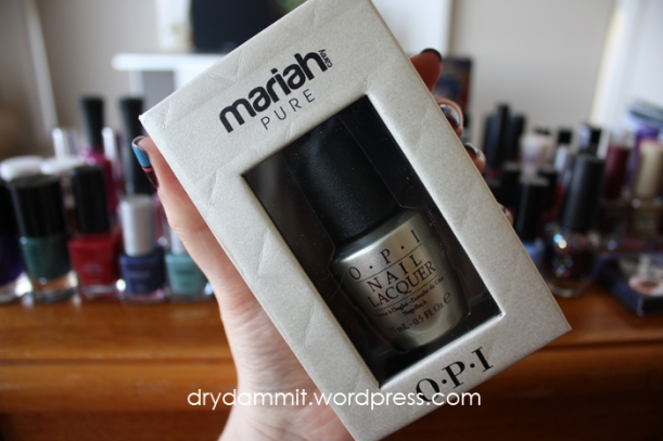 Final collection of European polishes - OPI Pure (18k white gold and silver top coat) from the Mariah Carey Collection