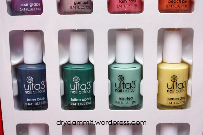 Polishes from the Ulta3 Candy Couture nails book