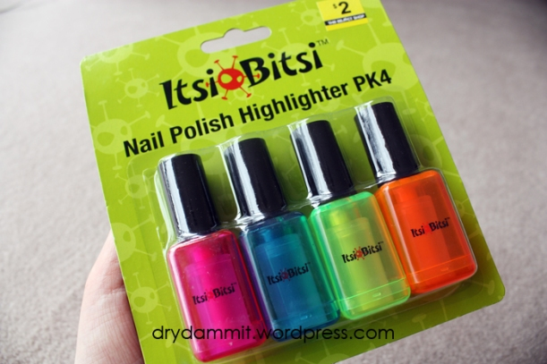 Nail polish highlighters