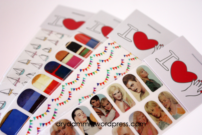 I Heart Nail Art decals package by Dry, Dammit!