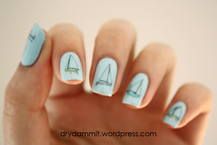 I Heart Nail Art sail boat decals by Dry, Dammit!