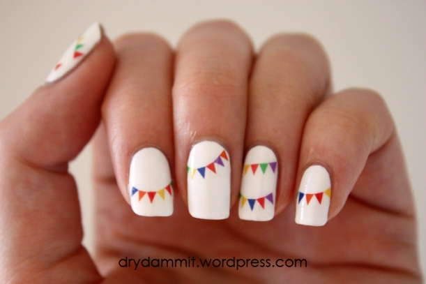I Heart Nail Art bunting decals by Dry, Dammit!