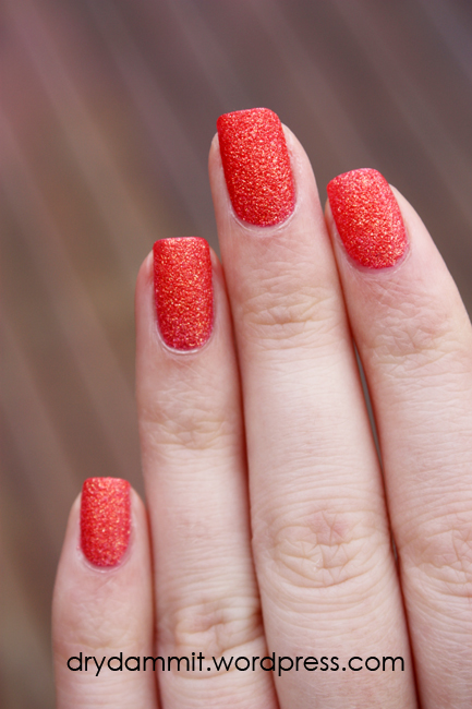 Look by BIPA Glitter Coral textured polish by Dry, Dammit!