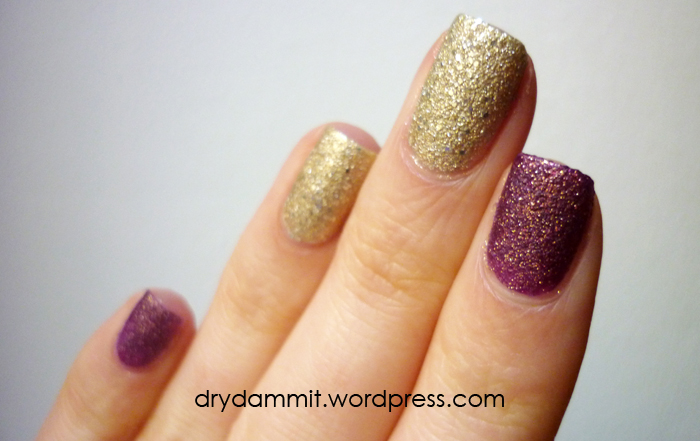 P2 Seductive and Precious textured nail polish by Dry, Dammit!