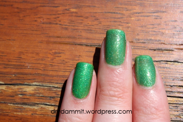 January What's In-die Box? Lilypad Lacquer It's Not Easy Being Green by Dry, Dammit!