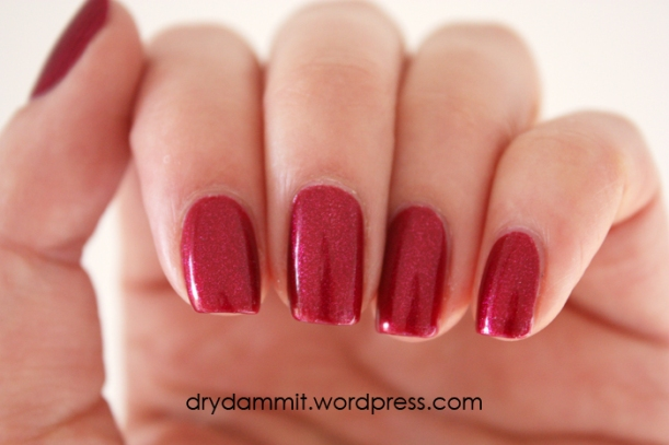 Golden Rose Matte Velvet 106 with top coat by Dry, Dammit!
