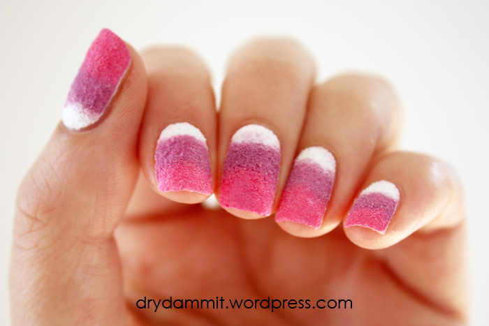 Sally Hansen Sugar Coat textured gradient by Dry, Dammit!