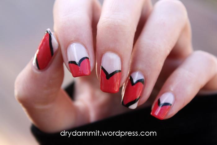 Valentine's Day nail art by Dry, Dammit!