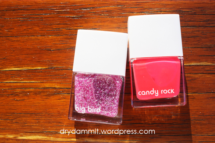 Kmart lips & tips Big Bird and Candy Rock by Dry, Dammit!