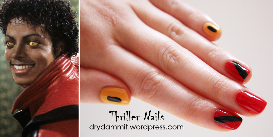 The Cuteberry Nail Challenge day 11: Michael Jackson Thriller nail ...