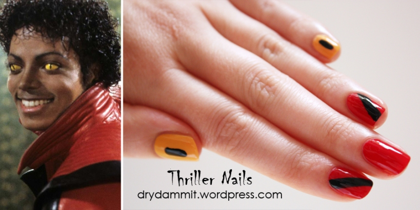 Thriller nail art by Dry, Dammit!