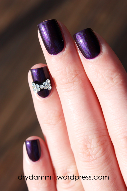 Born Pretty Store 3D rhinestone bow nail art decoration review by Dry, Dammit!