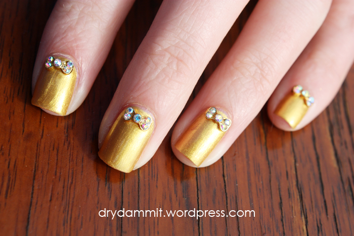 Born Pretty Store 3D rhinestone bow nail art studs review | Dry, Dammit!