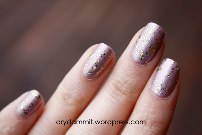 essence Steel-ing the Scene gold topper from the Metal Glam Collection by Dry, Dammit!