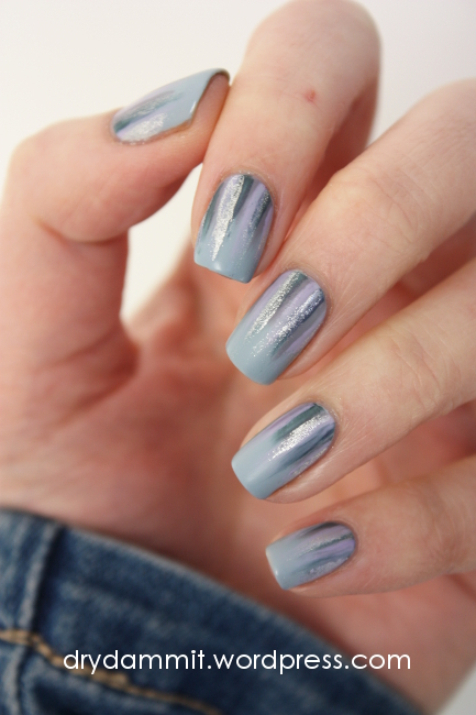 Ciate Chinchilla waterfall nail art by Dry, Dammit!