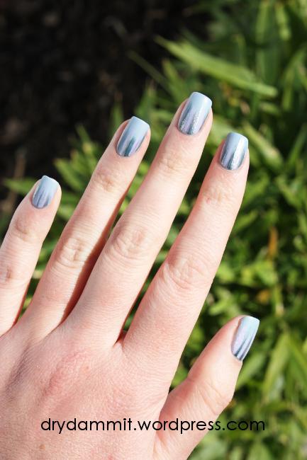 Ciate Chinchilla waterfall nail art by Dry, Dammit!