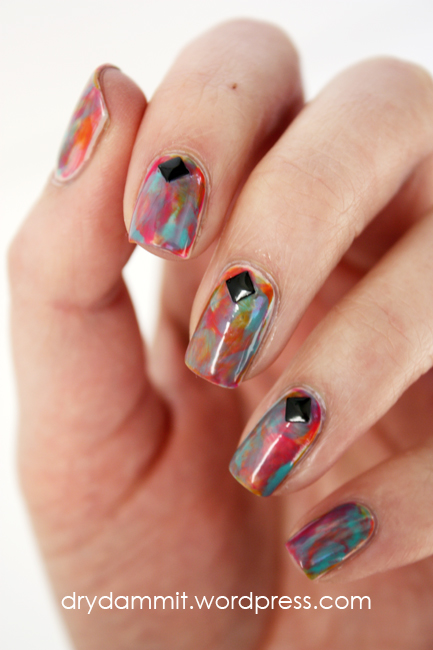 Face of Australia Screen Siren Collection waterfall nail art by Dry, Dammit!