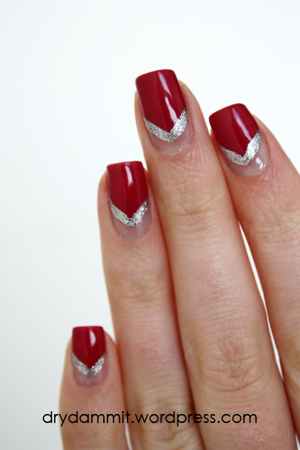 essence Be Berry Now! half moon nail art